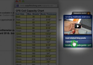 Click on cpacity chart in the CFS resource center