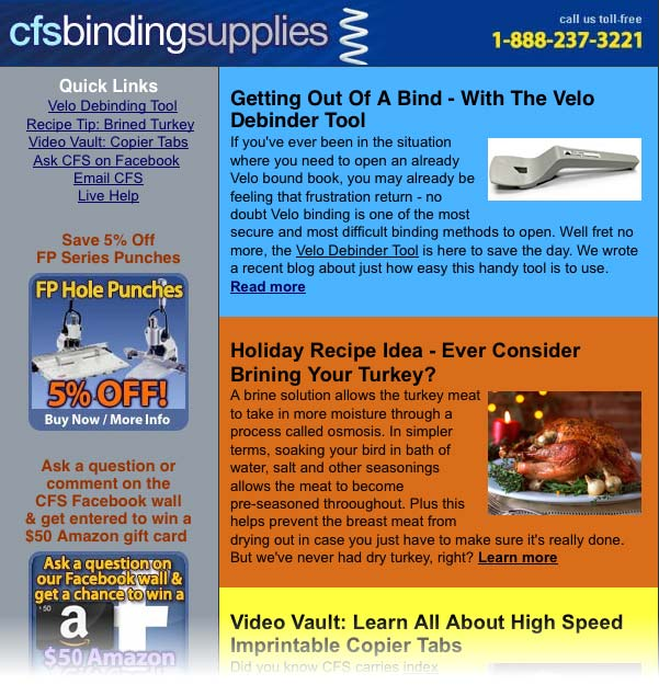 Mid Nov 2012 Newsletter - click to read