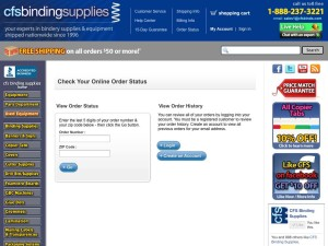 New Order Status feature - click to see a sample.