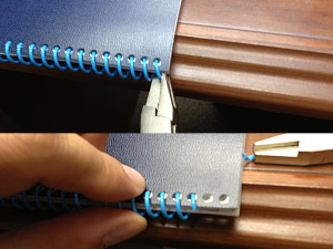 removing plastic coil binding
