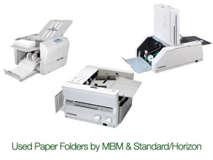 Used paper folders by MBM and Standard Horizon