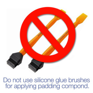 Silicone glue brush for padding copmpound