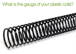 What is the gauge of plastic binding coils